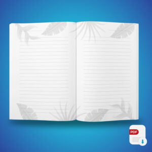 Carnet de notes Tropical - 100 pages lignées