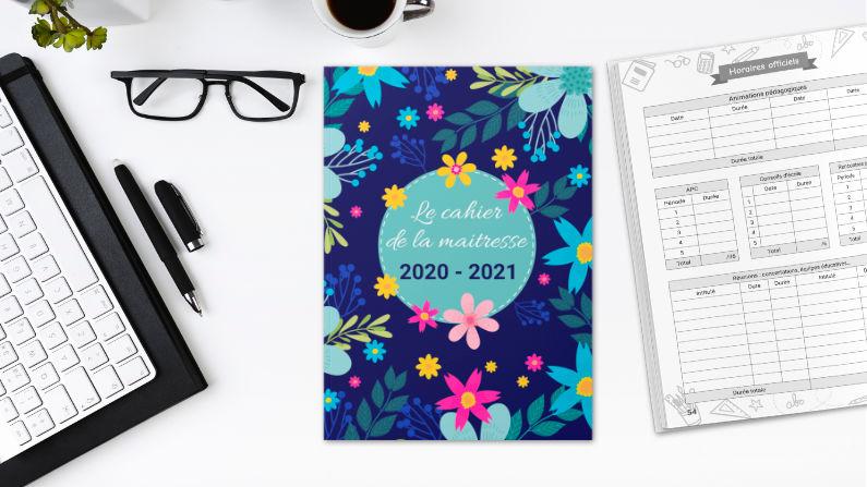 Cahier de la maitresse 2020   2021, organiseur de prof des écoles